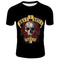 2020 Yeni Kafatası Gül Çiçek T-Shirt Erkekler Yaz Siyah Tshirt Band Street Giyim Erkekler 3D Baskılı T Gömlek Kafatası Gül Çiçek Tee Shirtsoccer Jersey