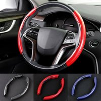 Steering Wheel Covers Car Cover Carbon Fiber Anti Slip Auto Case Universal Accessories Interior Parts 37-38cm