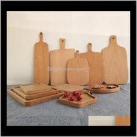 لوحات قطع خشبية البيتزا الفاكهة الخشب أداة الخشب لا تكسير تشوه R51PG كوكس كوكوي