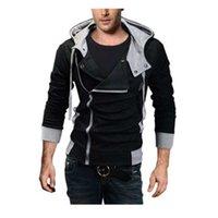 Vendita all'ingrosso-asiatiche dimensioni M-6XL Plus Size Giacca con cappuccio Uomo Nuovo arrivo Abbigliamento sportivo Assassins Creed Men's Zipper con cappuccio e felpe con cappuccio e felpe
