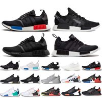 NMD R1 Running Chaussures Lush Red Europe EXCLUSIVE Blanc Bleu Black Monochrome Tactile Vert Triple Blanc Hommes Femmes Sneakers