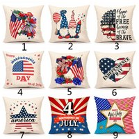 American Independence Day Pillow Case Sofa Cushion Covers Home Decor Seat Pillowcase America Flag Throw Pillows Cover 45*45cm