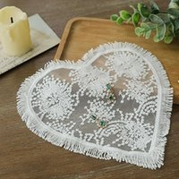 Nail Art Kits White Flower Lace Round Embroidery Table Place Mat Christmas Pad Napkin Placemat Cup Dish Tea Doily Kitchen For Pogra