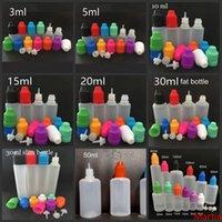 E bouteilles liquides 3ml 5ml 10 ml 15 ml 20 ml 20 ml 30 ml de dorlinet vide LDPE en plastique pour enfants bouchons à aiguilles longues pointes pour l'huile de vape Ejuice