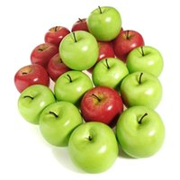 10pcs/set Large Artificial Fake Red Green Apple Fruits Kitchen Home Decor Teaching Aids Fruit Party Decoration