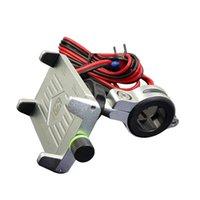 휴대 전화 마운트 홀더 알루미늄 합금 사용자 정의 로고 오토바이 모바일 스마트 마운트 홀더 5V 2.5A USB 충전기
