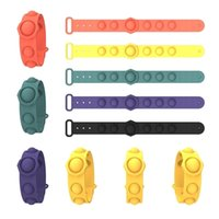 Braceletes de anel sensoriais empurrar bolha pop fidget brinquedos decompressão chaveiro puzzle imprensa dedo brinquedo bolhas pulseira pulseira pulseira h31ky9z