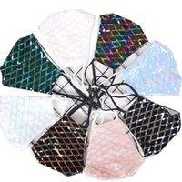 Fashion Shiny Sequins Face Mask Bling Dustproof Belt Socket Explosion Decorative Night Club Masks Pub Bar SY082501