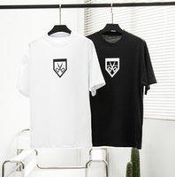 21ss Erkekler Baskılı T Shirt Paris Makas Mektuplar Baskı Giysi Kısa Kollu Erkek Gömlek Etiketi Mektup Siyah Beyaz
