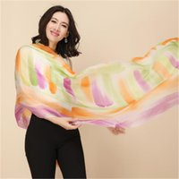 Scarves Top Grade 100%cashmere Women Fashion Printed Thin Scarfs Shawl Pashmina Large Size 70x200cm Orange Yellow 6color