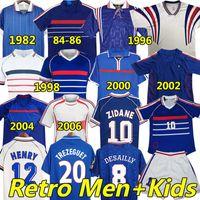 2021 Frankreich Spieler Version Fußballs Trikot Retro France Soccer jerseys 1982 1984 1996 1998 Zidane 2000 2004 2006 Home Away Männer Kinder Kits Fußball Trikots