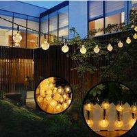 Strings Solar Lamp Crystal Ball LED String Fairy Lights Garland Garden Light Christmas Outdoor