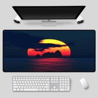 Mouse Pads & Wrist Rests XGZ Exquisite Large-size Landscape Pad, Sunset In Sea Series, As A Table Mat, High-quality Rubber Non-slip Keyboard