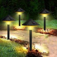 Lâmpadas de gramado 1/2/4 / 5 pcs Cogumelo À Prova D 'Água Sem Fio Luzes de Caminho Solar Luzes Ao Ar Livre Luz no solo Para Gramadas de calçadas de quintal