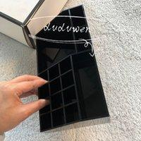Rettangolo C custodia custodia acrilica nera hihg classico scatola di gioielli con scatola regalo titolare cosmetico