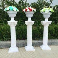 Parti Dekorasyon 2 adet Plastik Roma Sütun Moda Düğün Sahne Dekoratif Beyaz Sütun Tencere Yolu Kartited Hoşgeldiniz Alan Dekor Çiçek Topu