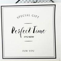 """6 PCS / HOJA """"Tiempo perfecto"""" Etiqueta de sellado de papel Pegatinas adhesivas para productos hechos a mano Pegatina de embalaje de pasteles autoadhesivos KDJK2106"""
