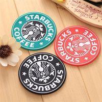 2021 US STOCK NOUVEAU Silicone Coasters Coupe Thermo Coussin Porte-Coussin Decoration Starbucks Coasters Coasters Tapis de tasse