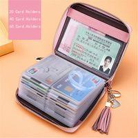 Card Holders Female Cardholder Genuine Leather Holder Men Travel Passport Long Wallets Purse Black Women Business ID