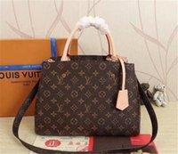 "Designers Bolsas Bolsas Montigne Bag Mulheres Tote Carta Embossing Genuine Leather Crossbody Bags GG ""LV"" Louis ""Vitton"" YSL ... Vutton ... Vutton"