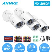 كاميرات Annke C51BS 1080P HD-TVI Security CCTV كاميرا 4PCS كيت مانعة لتسرب الماء و 66ft رؤية ليلية سوبر