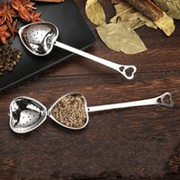 Outil de cuisine Love coeur style de coeur style acier inoxydable thé Infuser cuillère à café de cuillère cuillère filtre haute qualité 294 s2