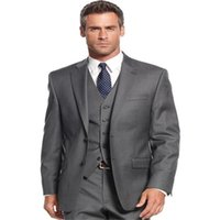 Men's Suits & Blazers Dark Grey Single Breasted Mens 3 Pieces Wedding For Men Groom Tuxedos Business Formal Suit (Jacket+Pants+vest+tie)