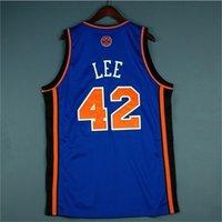 0098Rare Jersey de basquete homens juventude mulheres vintage azul 42 David Lee High School Lincoln Tamanho S-5XL Personalizar Qualquer nome ou número