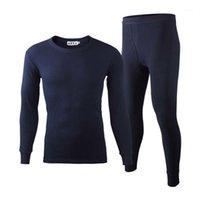 2pcs / set hombres cálidos largos johns ropa interior térmica conjuntos de terciopelo masculino o cuello largo johns ropa interior térmica pantalones para hombres camisa leggings1