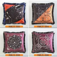 Luxury pillow case designer classic Signage tassel Carriage saddle rope 20 patterns Optional printting pillowcase cushion cover size 45*45cm