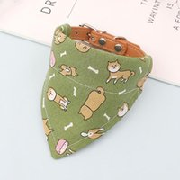 Dog Collars & Leashes Handmade Pet Products Adjustable Japanese-style Accessories Collar Puppies Triangle Bandana Cat Bib Kitten Saliva Towe
