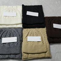 Designer Beanie Cat Sciarpa Set da uomo Donne Brand Sciarpe di SCARPA INVERNO Cappelli da sci da esterno Set unisex caldo con etichetta lettera