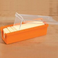 Cake Tools Butter Cutter Slicer Cheese Glass Keeper Container Box Multifunction Kitchen Accessories Yellow Silicone 30