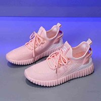 Original Frauen Neue Produkte Damen Casual Sports Schuhe Mesh Lace-up gestrickt Schwarz Weiß Rosa Grau Mode Trendy Sneakers Trainer