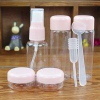 Travel Mini Makeup Cosmetic Face Cream Pot Bottles Portable Plastic Transparent Empty Make Up Lotion Container Bottle Kit Accessorie Sample Jar Envase Plastico