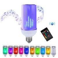 Lâmpada Bluetooth Speaker, 8W E26 RGB + W mudando lâmpada de áudio estéreo sem fio com 24 teclas controle remoto LED Bulbos 85V-265V usalight