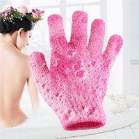 Haut Dusche Handschuhe Peeling Bath Handschuh Spa Waw Tuch Körperwäsche Nylon Handtücher Massagebäder Wipe 7 Farben
