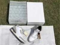 A ma maniere x أصيلة 3 أحذية الرجال المتوسطة رمادية البنفسجي خام الأبيض مانيعر جزء mocha unc متسابق الأزرق أحذية رياضية مع صندوق الأصلي US7-13