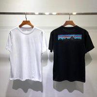 Summer Designer Mountain T Shirt Hombres Mujeres Moda Paisaje Imprimir Mangas cortas de alta calidad Algodón Casual Tees