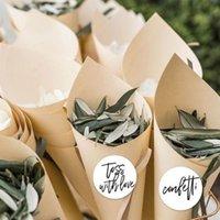 100 шт. / Лот Свадьба Confetti Kraft Paper Candy размещена натуральные лепестки для цветов конусы для вечеринок день рождения фестиваль украшения AL7697