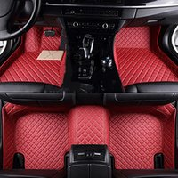 Leather Custom Auto car floor Foot mat For ford fusion fiesta mk7 s-max ranger explorer 5 Mondeo kuga Edge accessories auto