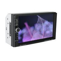 자동차 비디오 7 인치 더블 7018B 2 DIN FM 스테레오 라디오 MP5 플레이어 방향 제어가있는 터치 스크린 멀티미디어