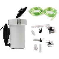 Аквариум HW-602B Внешняя ультрахимическая канистральный фильтр для фильтра стола для рыбы Бак для рыбы Внешняя система фильтрации 220-240V 6W 400L / H 210324