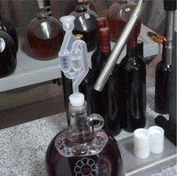 Bar Tools Bonne qualité Simlock Homebrew Verrouillage d'air Bubble Verrouillage d'échappement d'échappement aller-retour Vanne Vigne vin machine à vin avec bouchon QNPZ