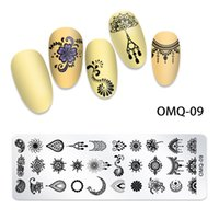 12 * 4 cm ongles UV GEL Modèles de vernis Plaque d'estampage sur des ongles Série de Noël de neige fleur pour manucure Design Ensemble NAP003
