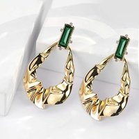 Popular Sterling Silver exaggerated irregular pleated female studs earings for women