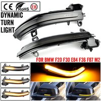 Emergency Lights 2 Pieces Dynamic Rearview Mirror Blinker Turn Signal LED Light For F20 F30 F31 F21 F22 F23 F32 F33 F34 X1 E84 1 3 4 Ser