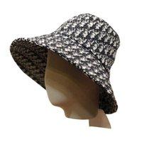Kova Şapka Lüks Tasarımcılar Bayan Kova Kap Palmiye Kadın Moda Klasik Geniş Fedora Güneş Kremi Pamuk Sonbahar Bahar Balıkçı Sun Caps Gemi