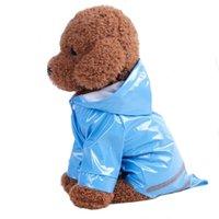 Dog Apparel 2021 Pet Waterproof Puppy Jacket Fashion Clothing Rain Coat Outdoor Solid Hooded Raincoat