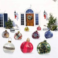 Outdoor Christmas Inflatable Decorated Ball Made of PVC, 23.6 inch Giant Tree Decorations Holiday Decor 2022